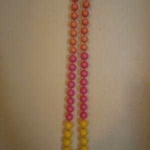 Jewelry - Wendy Mink Summer Necklace. Pink Orange Yellow